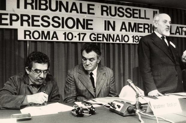 Lelio Basso, Gabriel García Márquez and Vladimir Dedijer