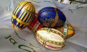 faberge eggs in a plastic bag rome