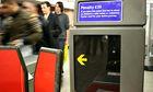 rush hour on the tube, underground, London, UK. Image shot 2008. Exact date unknown.