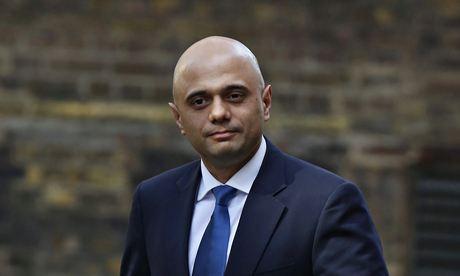 Britain's new Culture Secretary Sajid Javid arrives at Number 10 Downing Street in London