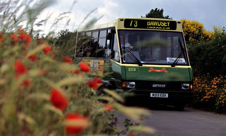 A bus service in rural Suffolk