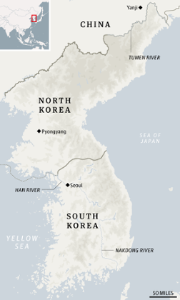 Regional map of North Korea