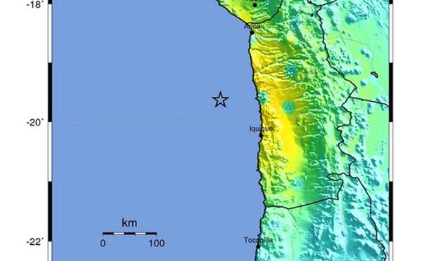 Chile shakemap
