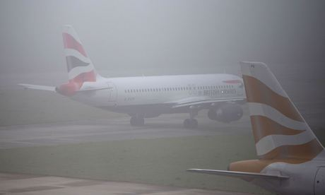 Heathrow airport fog