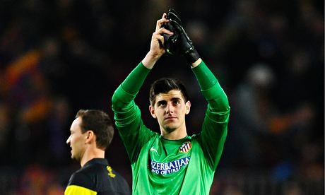 Chelsea's Thibaut Courtois is on loan at Atlético Madrid