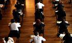 Exam students