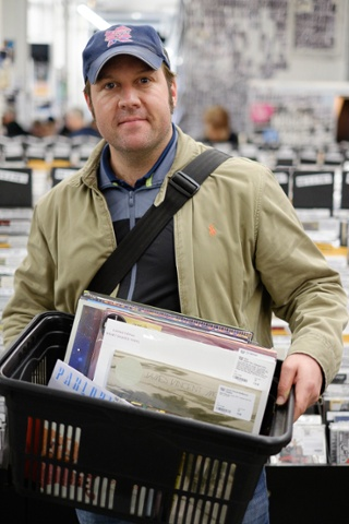 Steve Murnane, 38, of west London his basket of goodies; James Vincent McMorrow - Cavalier 10