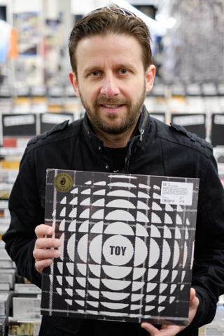 Jon Mackley, 44 of Reading with his Join the Dubs by Toys vinyl.