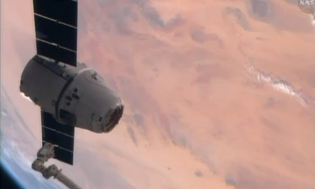 International Space Station takes special Easter cargo from SpaceX ship