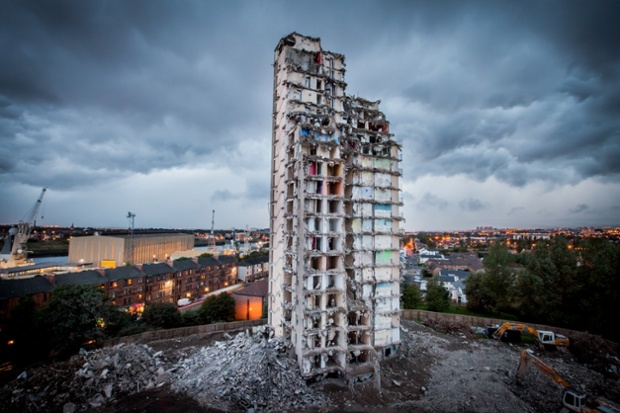 The last months of the Plean St High Rise Flats in Glasgow in 2010