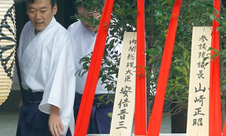 Shinzo Abe's wartime shrine tribute risks inflaming China tensions