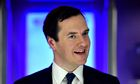 Last laugh? George Osborne in Wales last month.