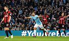 Sergio Agüero Manchester City v West Bromwich Albion - Etihad Stadium