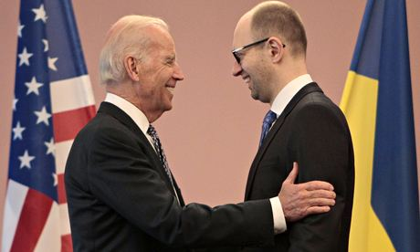 Joe Biden and Arseniy Yatsenyuk