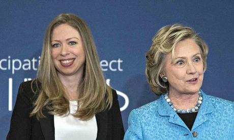Chelsea Clinton and Hillary Clinton in New York earlier this month.