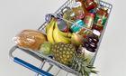 Cart of groceries