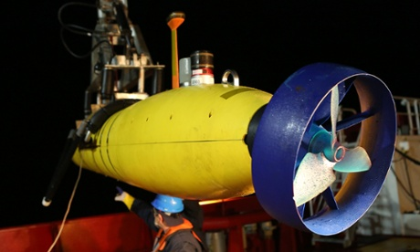 The Bluefin-21 submersible, which is scanning the bottom of the Indian Ocean for wreckage of Malaysia Airlines flight MH370
