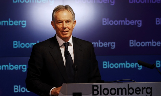 Tony Blair delivering his speech in Islamist extremism.