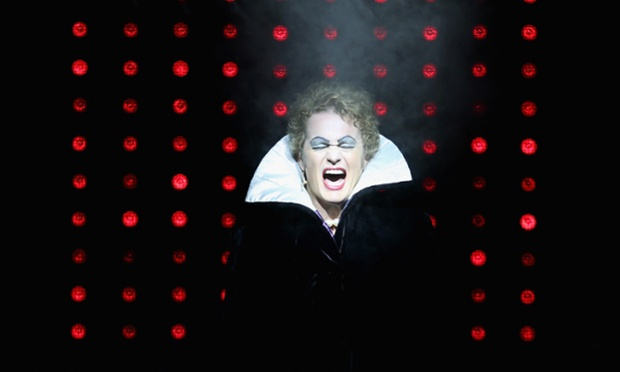 Craig McLachlan performs as the character Frank N Furter in the Rocky Horror Show at the Comedy Theatre in Melbourne, Australia.
