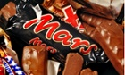 Mars Bars and other confection – inside and stripped of their wrappers