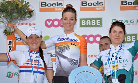 Lizzie Armitstead, left, was happy to finish second in the Flèche Wallonne on a tough course