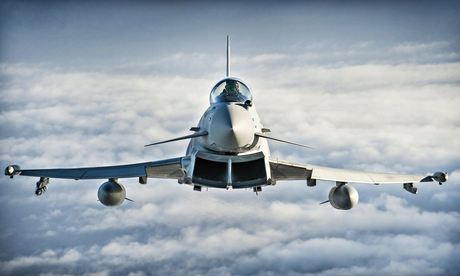 An RAF Typhoon jet