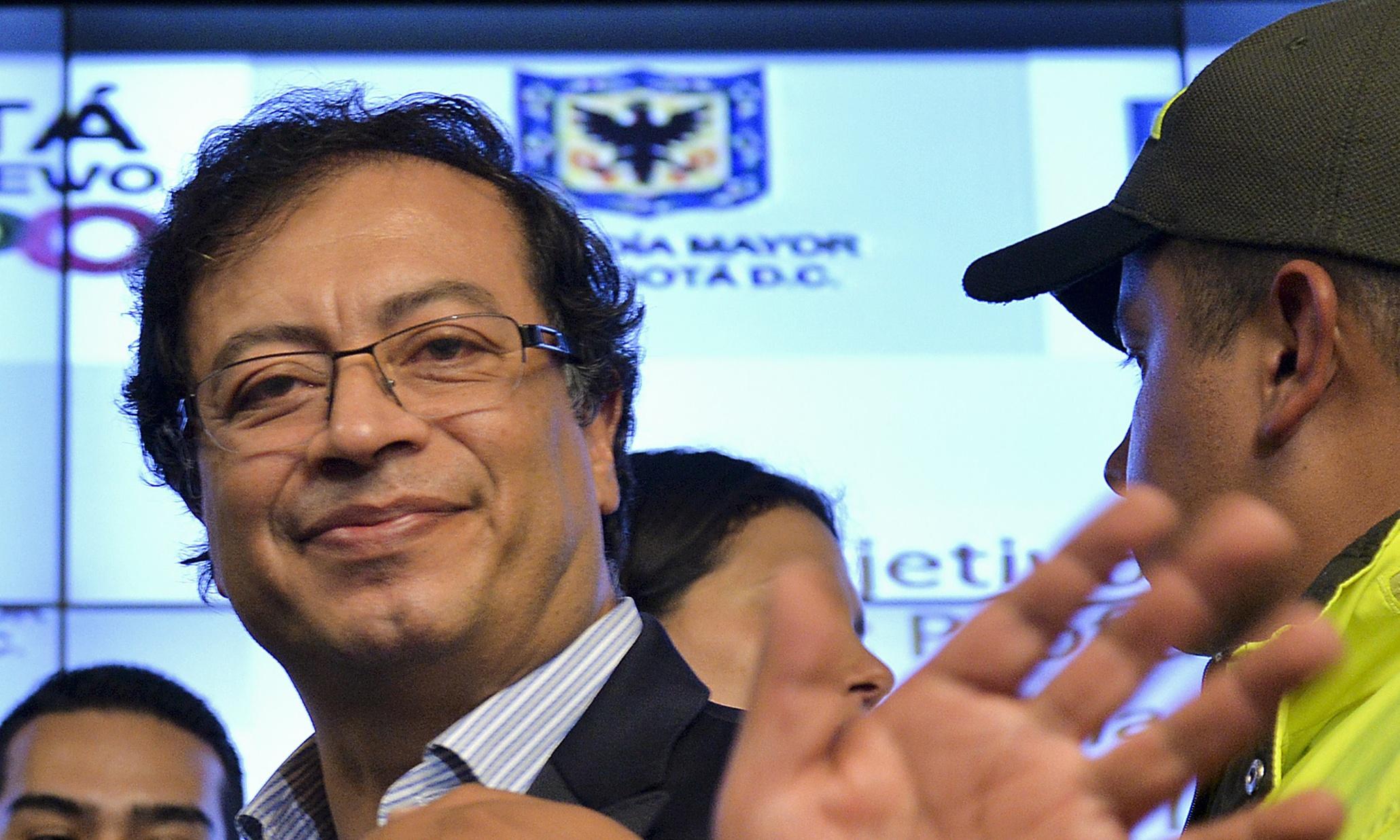 Bogota Mayor Gustavo Petro The Bogota Mayor Gustavo