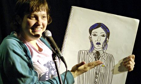 Josie Long with drawing Edinburgh Festival 2006