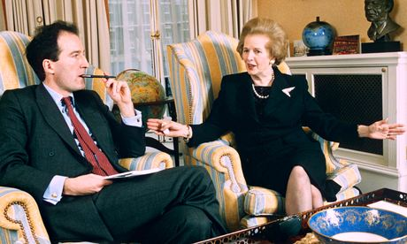 Margaret Thatcher and Charles Moore