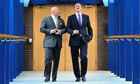 Nadhim Zahawi shares a joke with the prime minister, David Cameron