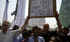 Bangladeshi activists and relatives of Rana Plaza victims mark first anniversary of disaster