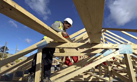 Construction At A Bellway Plc House Building Site Ahead Of Earnings