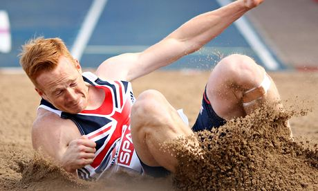 Greg Rutherford in action
