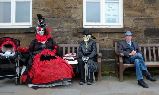 Two goths and a baby. ~ Getty Photograph by Ian Forsyth