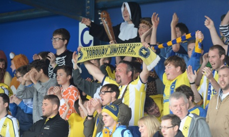 Torquay United have fallen through the Football Lea