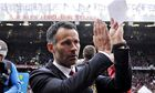 Ryan Giggs takes his seat in the dugout before Manchester United v Norwich at Old Trafford.