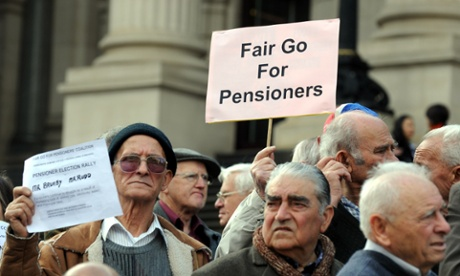 Pensioners protest 2010