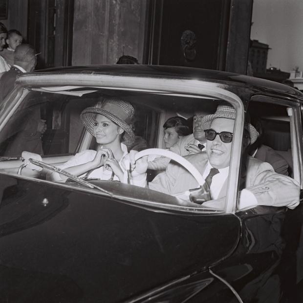 Carlo Ponti, Sophia Loren and Vittorio De Sica in Rome, 1961.
