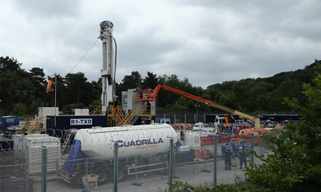 A view of the drill site operated by Cuadrilla Resources Ltd