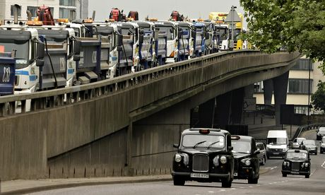 Diesel lorries and cars London
