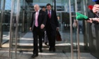Former Anglo Irish Bank executive Willie McAteer leaves the Circuit Criminal court, Dublin, after he was sentenced to serve community service for his role in an illegal loans-for-shares scam at the bank. PRESS ASSOCIATION.
