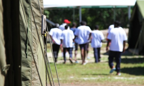 Tent accommodation at the federal government's offshore detention centre in Nauru.