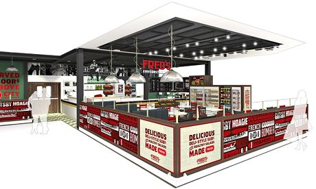 Artist's impression of Fred's, a NY-style diner that has opened at the Ostereley Tesco Extra.