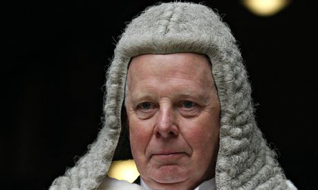 Lord chief justice of England and Wales Sir John Thomas. Photograph: Lewis Whyld/PA