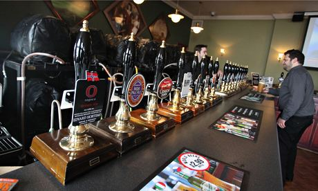 Yard of ale … Wetherspoon have a wide, ever-changing selection of beer