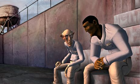 1954: Alcatraz: 'blocky and weirdly misshapen figures' take the edge off an intelligent game.