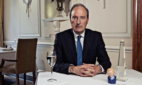 Charles Moore in the Goring Hotel, Belgravia