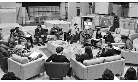 The cast and crew of the new Star Wars film