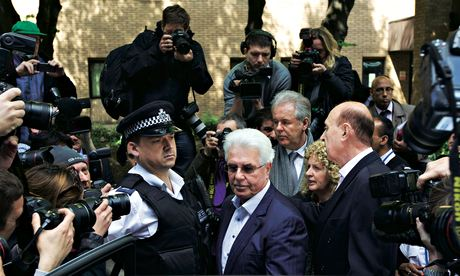 British publicist Max Clifford leaves court