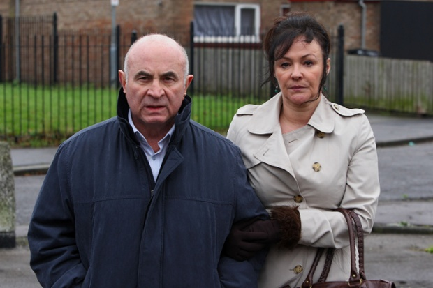 Bob Hoskins and Frances Barber in Jimmy McGovern's The Street